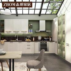 志邦橱柜整体厨房橱柜定制开放式厨柜门装修定做石英石台面 卡俪